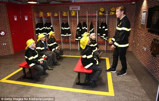 kidzania firemen